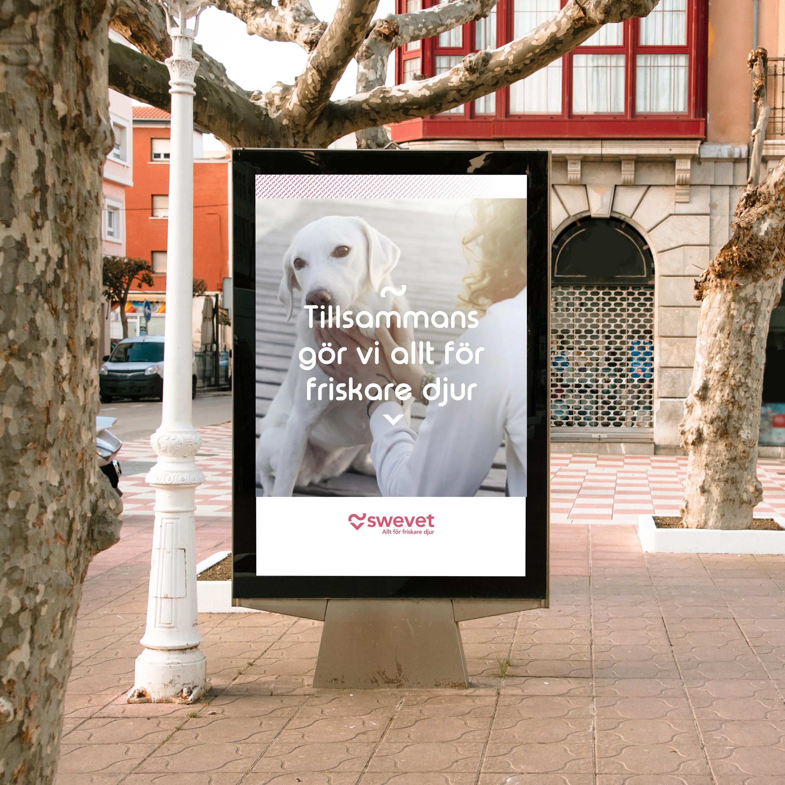 Swevet reklamskylt